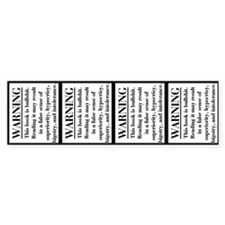 Bible Disclaimer Sticker (4 stickers in 1)