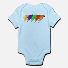 Running Greyhound Infant Bodysuit
