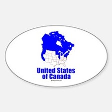 United States of Canada - Oval Decal