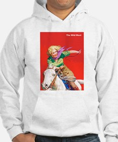 Wild West Cowgirl on White Horse Hoodie