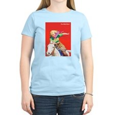 Wild West Cowgirl on White Horse T-Shirt