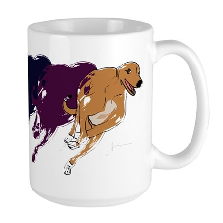 Running Greyhound Large Mug