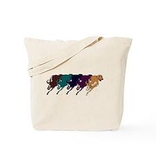 Running Greyhound Tote Bag