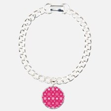 Hot Pink Snowflakes Bracelet