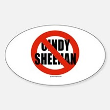 No Cindy Sheehan - Oval Decal