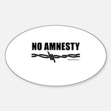 No amnesty - Oval Decal