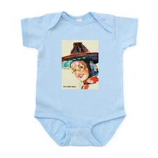 Wild West Fancy Sun Hat Infant Bodysuit