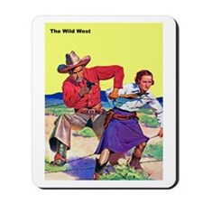 Wild West Partners with Guns Mousepad