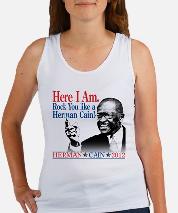Here I Am...Herman Cain Women's Tank Top