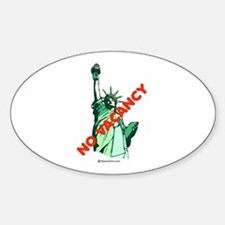 No Vacancy (for immigrants) - Oval Decal