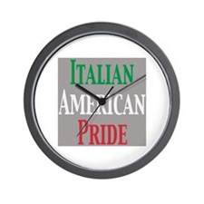 Italian American Pride Wall Clock