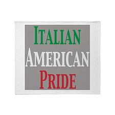 Italian American Pride Throw Blanket