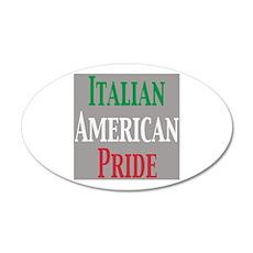 Italian American Pride 22x14 Oval Wall Peel