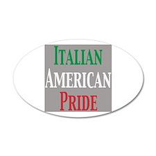 Italian American Pride 38.5 x 24.5 Oval Wall Peel