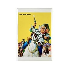 Wild West Sheriff's Posse Rectangle Magnet