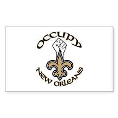 Occupy New Orleans Sticker (Rectangle)
