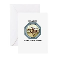 6TH RECRUITING BRIGADE WITH TEXT Greeting Card