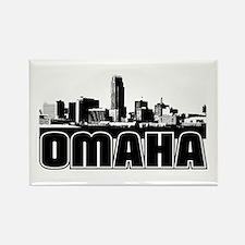 Omaha Skyline Rectangle Magnet