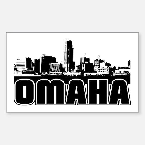Omaha Skyline Sticker (Rectangle)