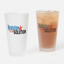 Revolutiion is the Solution Drinking Glass