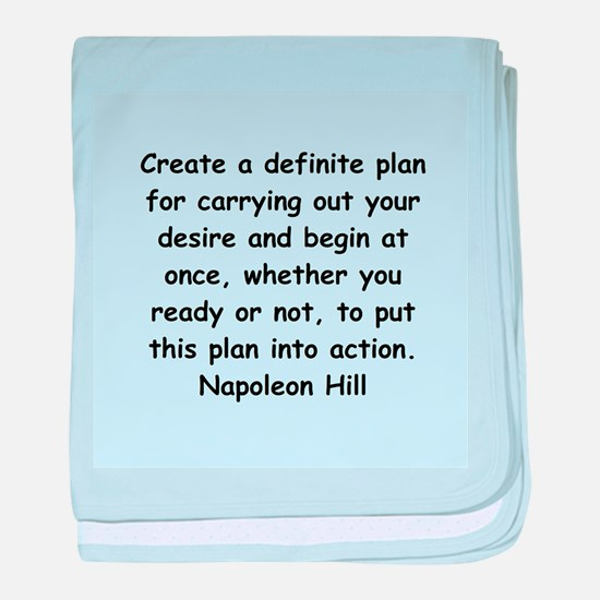 Napolean Hill quotes baby blanket
