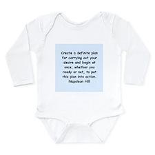 Napolean Hill quotes Long Sleeve Infant Bodysuit