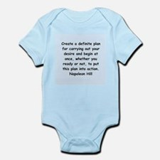Napolean Hill quotes Infant Bodysuit