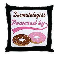 Dermatologist Gift Doughnuts Throw Pillow
