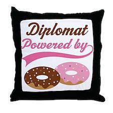 Diplomat Gift Doughnuts Throw Pillow