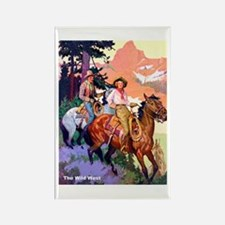 Wild West Mountain Country Ride Rectangle Magnet