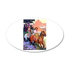 Wild West Mountain Country Ride 22x14 Oval Wall Pe