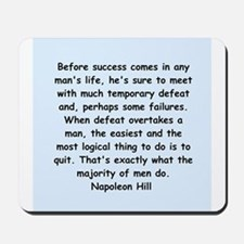 Napolean Hill quotes Mousepad