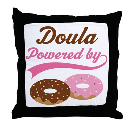 Doula Gift Doughnuts Throw Pillow