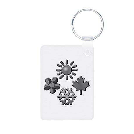 Four Seasons Aluminum Photo Keychain