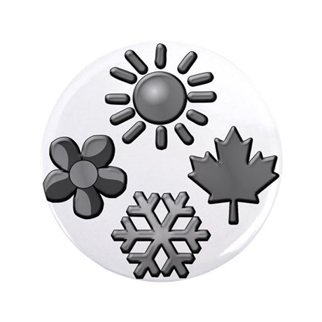 "Four Seasons 3.5"" Button"