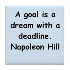 Napolean Hill quotes Tile Coaster