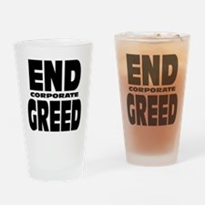 End Corporate Greed: Drinking Glass