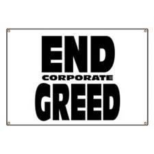 End Corporate Greed: Banner