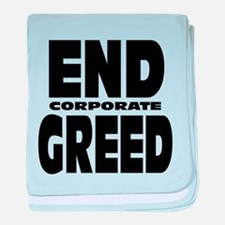 End Corporate Greed: baby blanket