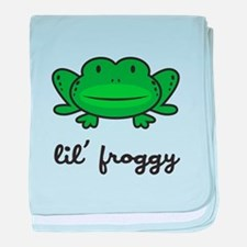 Lil Froggy baby blanket