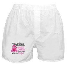 Mad Chick 2 Breast Cancer Boxer Shorts