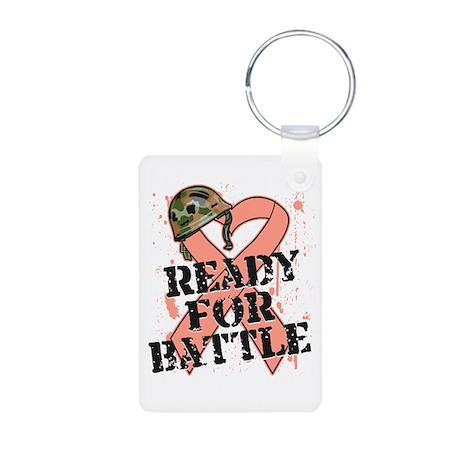 Ready Battle Uterine Cancer Aluminum Photo Keychai