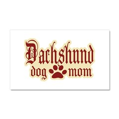 Dachshund Mom Car Magnet 20 x 12