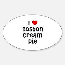 I * Boston Cream Pie Oval Decal