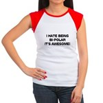 I Hate Being Bi-Polar It's Awesome! Women's Cap Sl