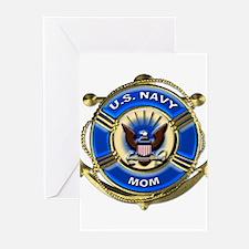 USN Navy Mom Greeting Cards (Pk of 10)