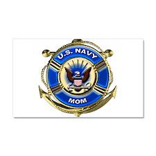 USN Navy Mom Car Magnet 20 x 12