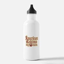 American Eskimo Mom Sports Water Bottle