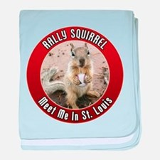 Rally Squirrel - The St Louis baby blanket