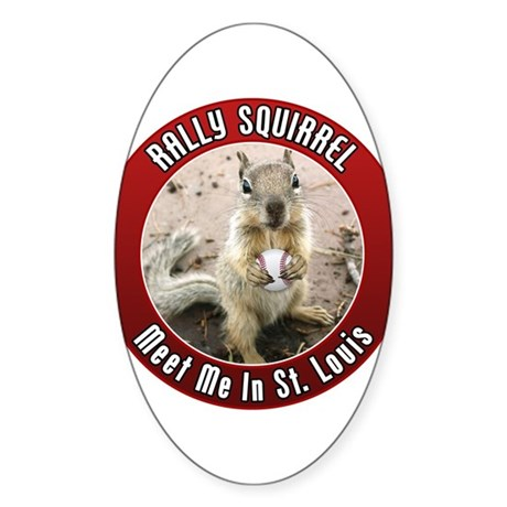 Rally Squirrel - The St Louis Sticker (Oval)